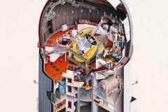 Schnittillustration Anglo-Australian Telescope (Australian Geographic Magazine/AAT)